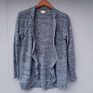Silence + Noise UO Marled Open Cardigan Sweater XS